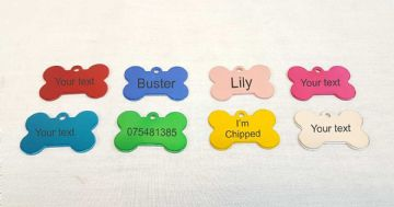 Personalised Dog Collar ID Tag - Choice of Colours